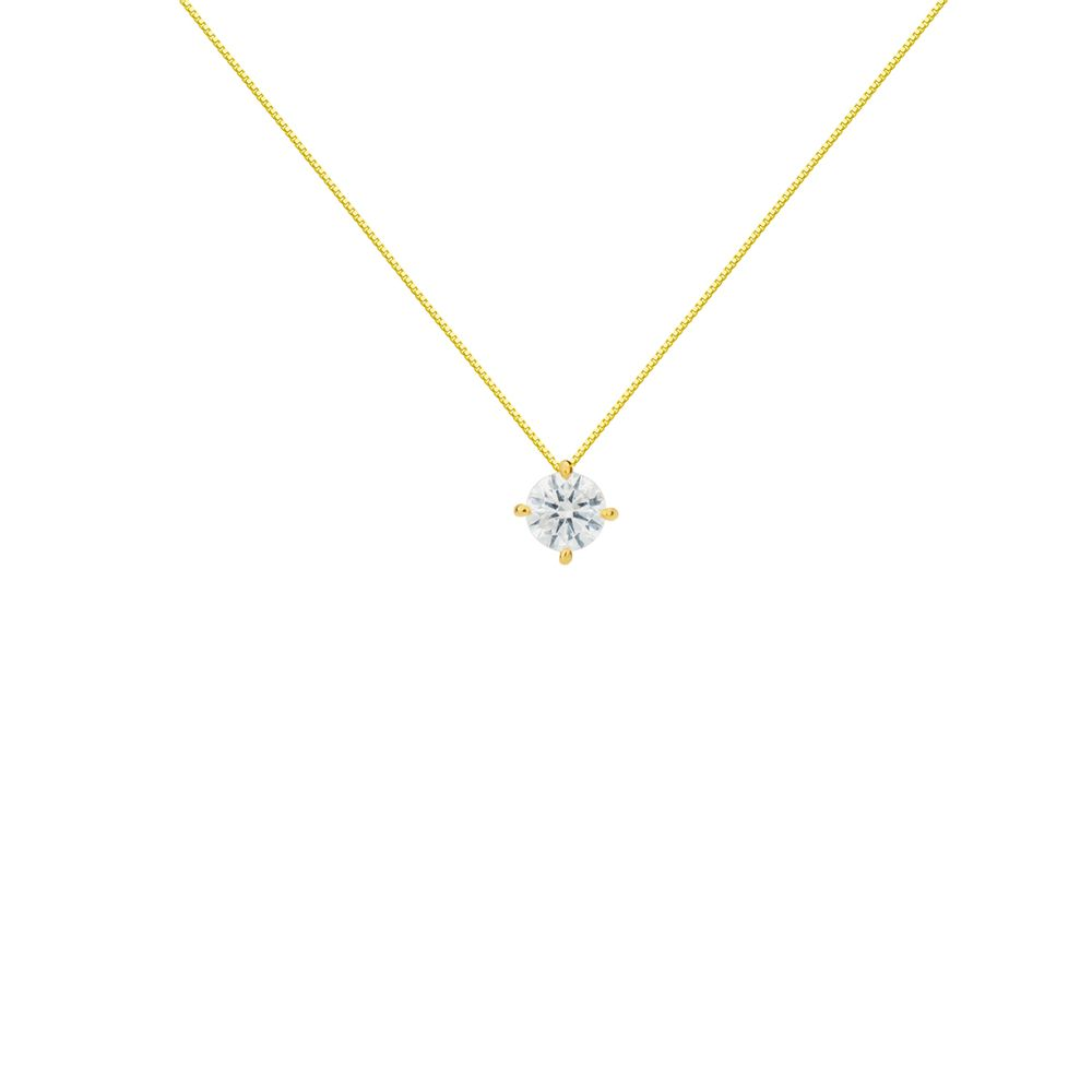 Gargantilha em Ouro 18k Ponto de Luz Diamante de 10 Pontos ga03493 ... be5c81d2e0