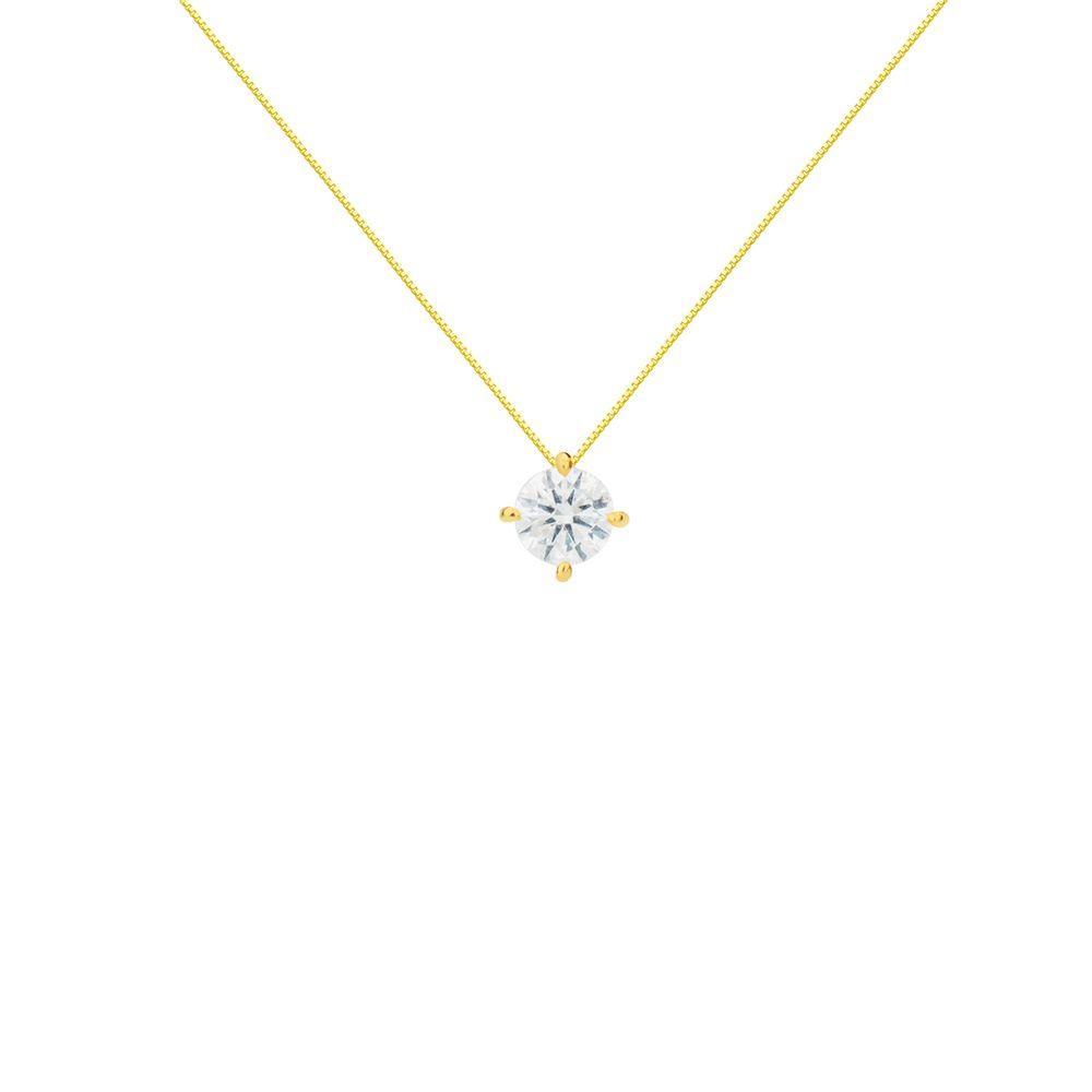 832bfab46176a Gargantilha em Ouro 18k Ponto de Luz Diamante de 15 Pontos ga03494 ...