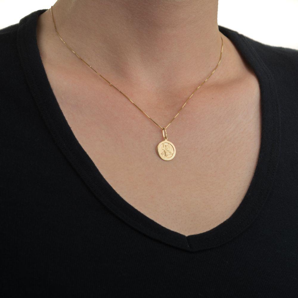 22fcf7570c1e3 Pingente de Ouro 18k Medalha Anjo da Guarda - joiasgold