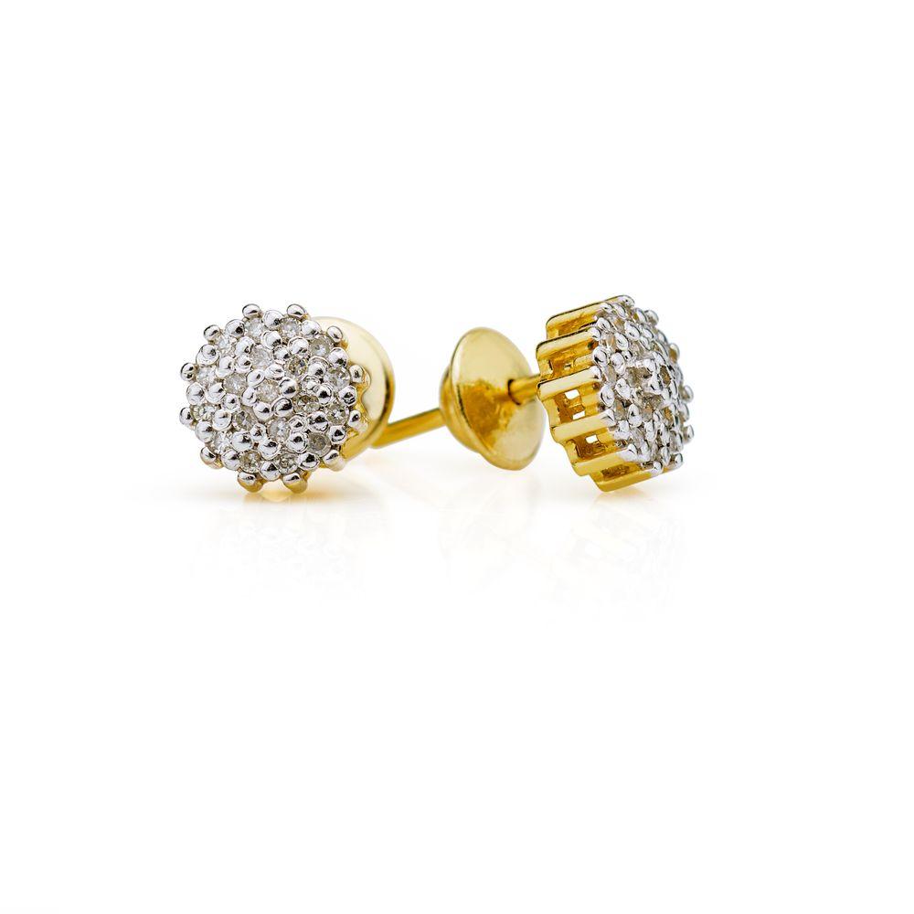 9817e17e70e Brinco em Ouro 18k Chuveiro com Diamantes br19896 - joiasgold