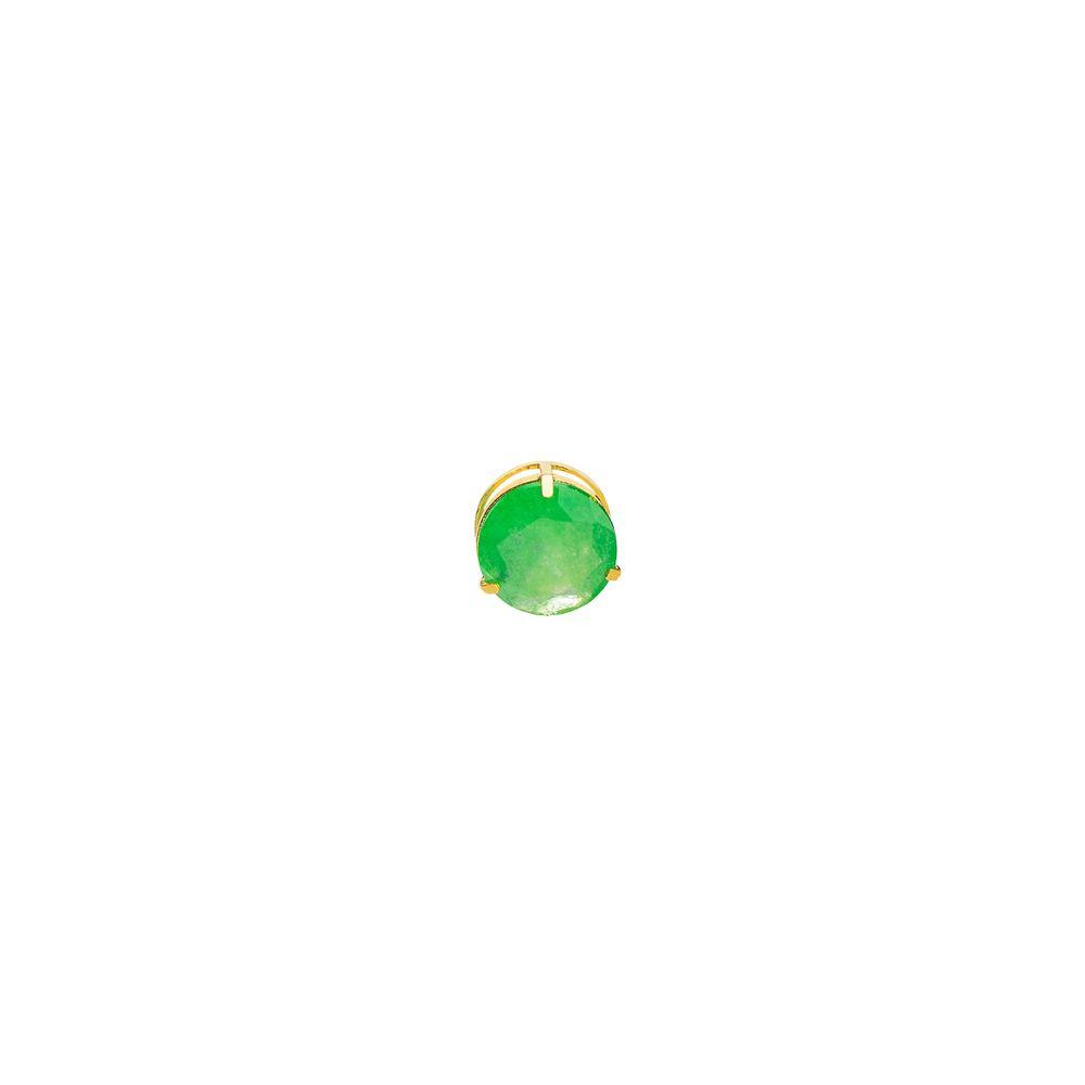 bf069436e384b Pingente em Ouro 18k Ponto de Luz Jade Verde com 6,0mm pi19041 ...