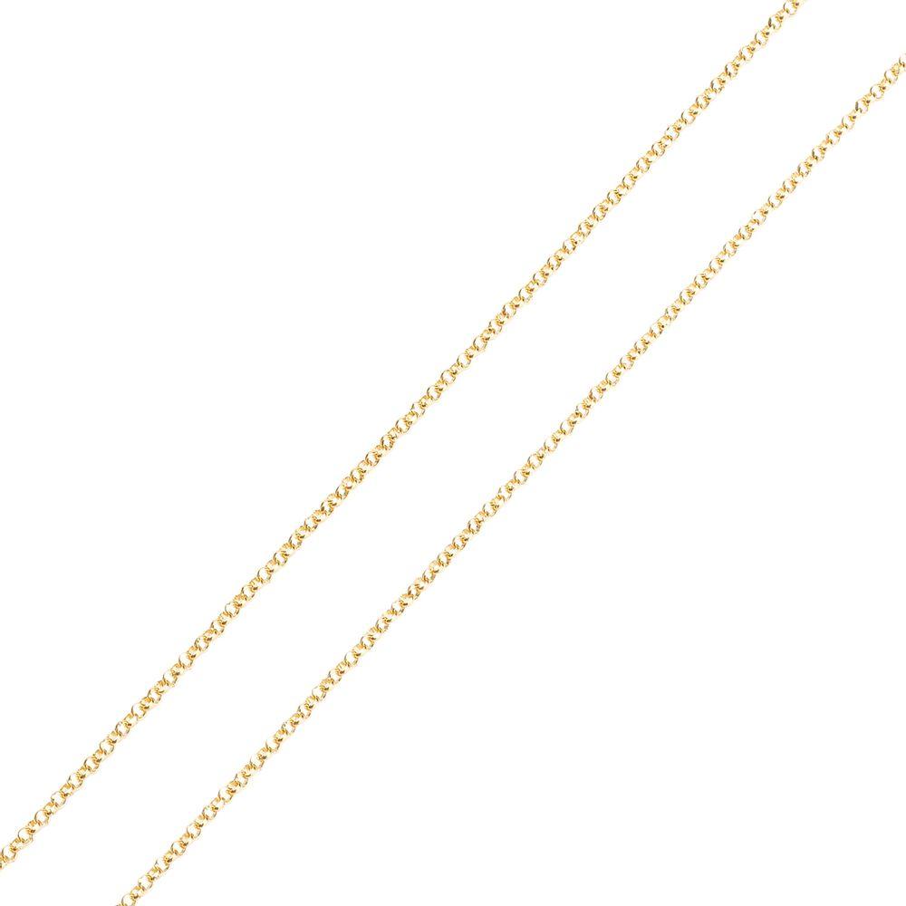 Corrente em Ouro 18k Portuguesa 0,9mm com 40cm co02449 - joiasgold f1b53aee03