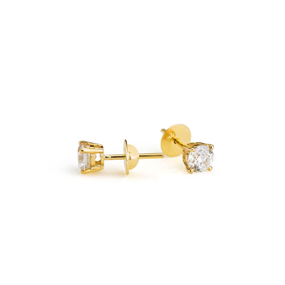 912b2d9fda69c Brinco em Ouro 18k Cartier com Diamante 50 Pontos br22100 - joiasgold