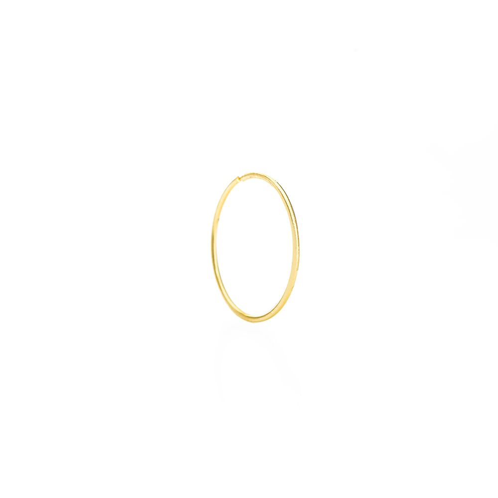 8e47a92f29af9 Piercing em Ouro 18k Nariz Argola Lisa 15mm ac07065 - joiasgold