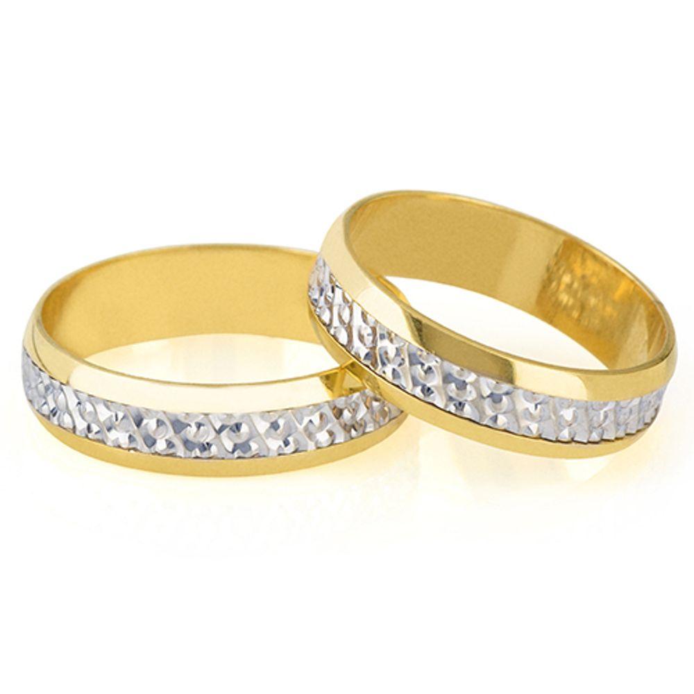 Alianças Casamento Bodas De Prata Abp21 Joiasgold