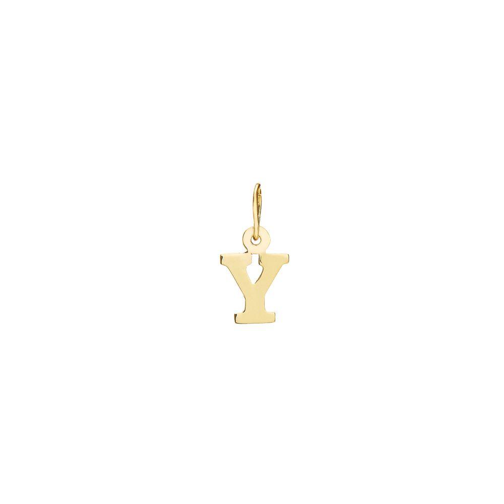 Pingente em Ouro 18k Letra Y pi19407 - joiasgold f628cfde2e