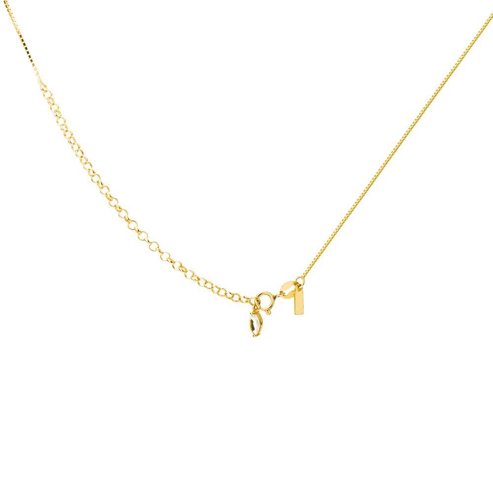 Gargantilha em Ouro 18k Choker Losango com Topázio e Diamantes ... fe905fbefa