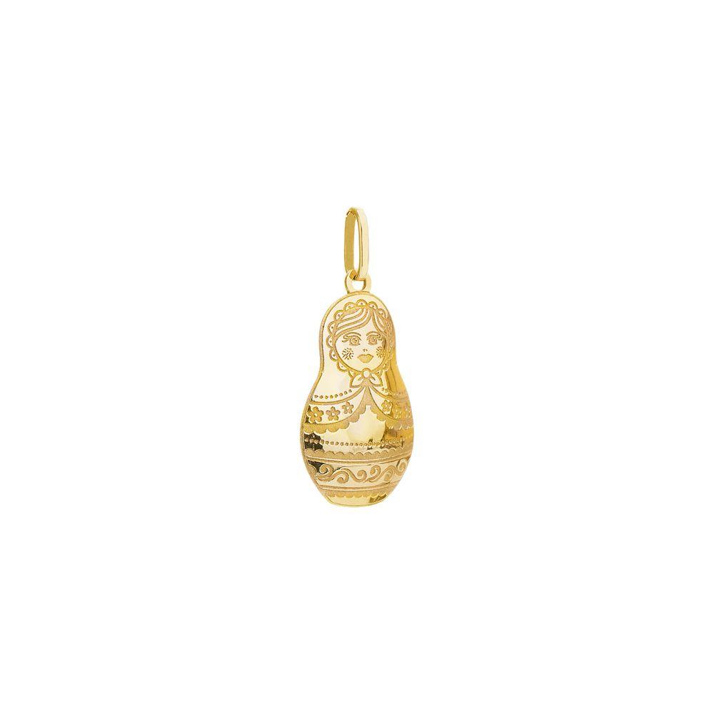 0b858f68b53a4 Pingente em Ouro 18k Boneca Russa pi18255 - joiasgold