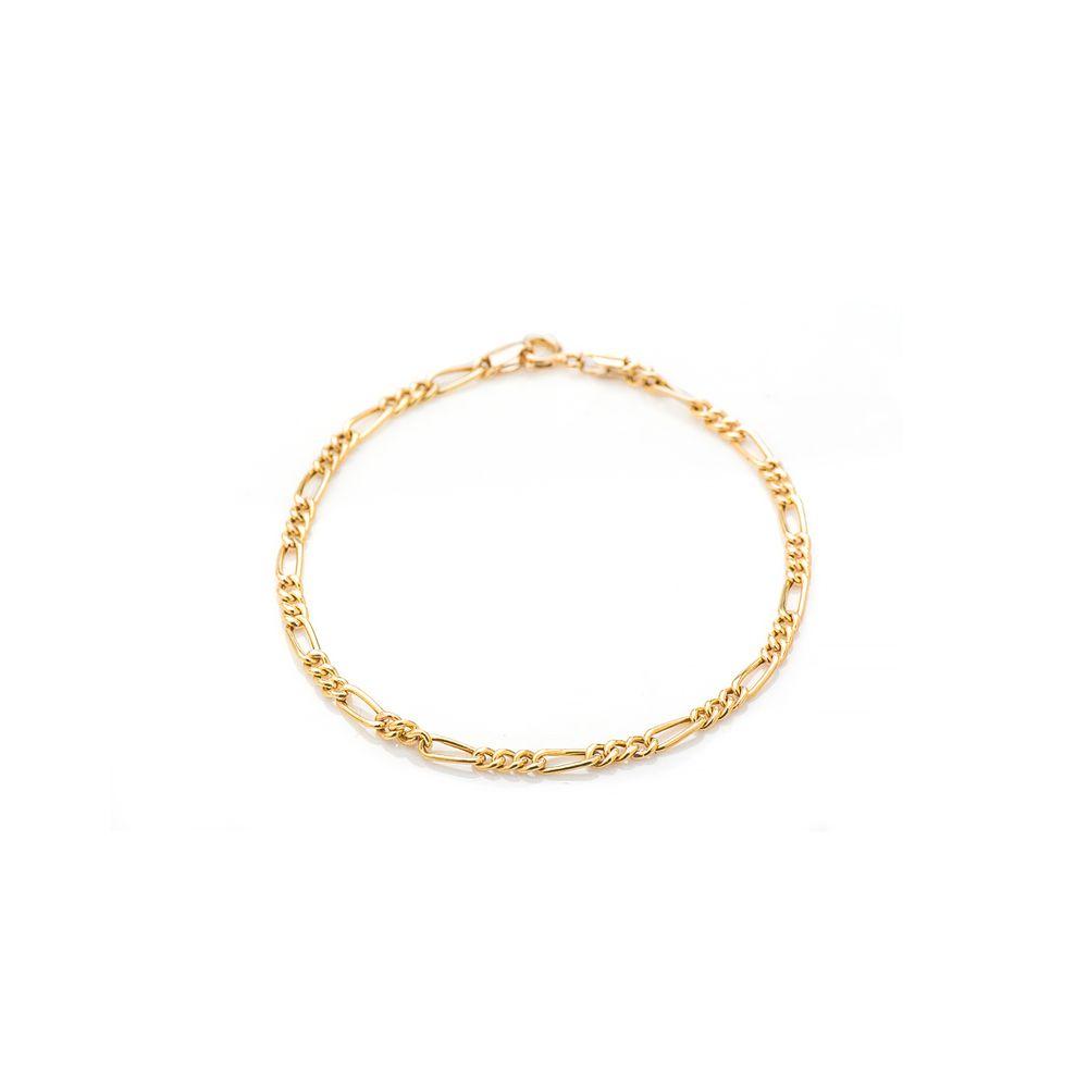 7f806ac351735 Pulseira em Ouro 18k Masculina Groumet 3 em 1 pu03287 - joiasgold