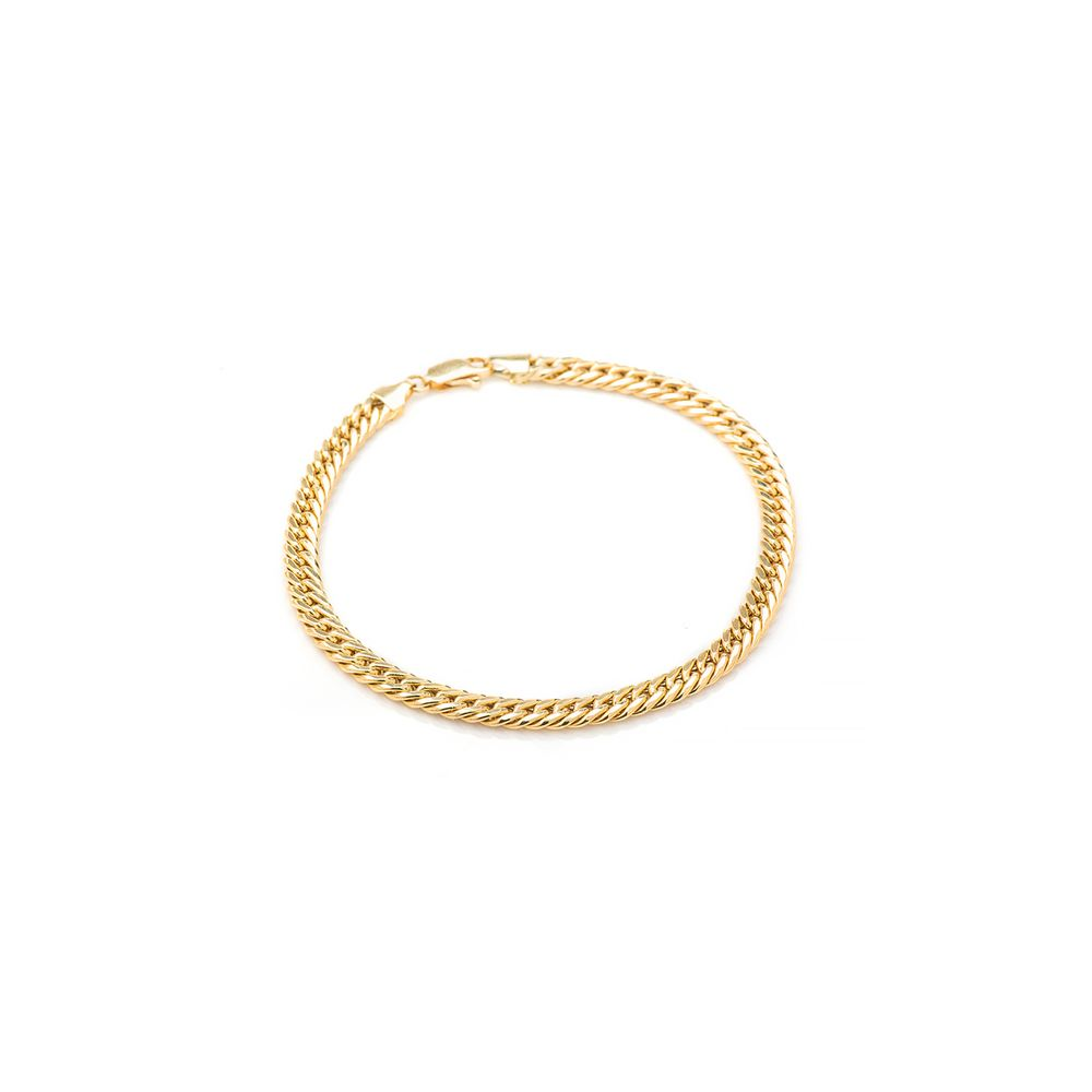 f130f9eb5fd61 Pulseira Masculina em Ouro 18k Malha Groumet pu03810 - joiasgold