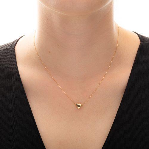 Gargantilha-em-Ouro-18k-Coracao-Liso-com-45cm--joiasgold