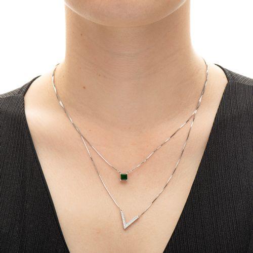 Gargantilha-em-Ouro-Branco-18k-Dupla-Jade-com-Diamantes-de-50cm-joiasgold