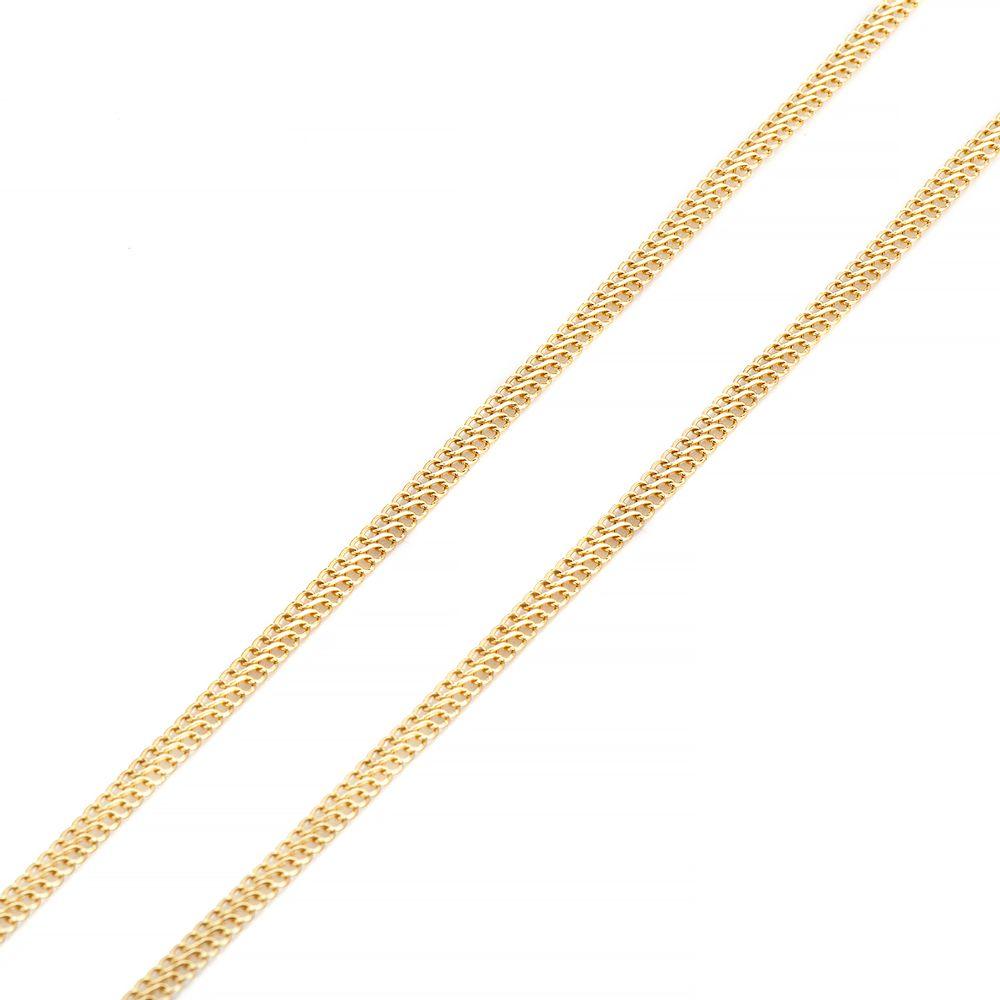 Corrente em Ouro 18k Lacraia 3,1mm com 45cm co02815 - joiasgold 624895ceb4