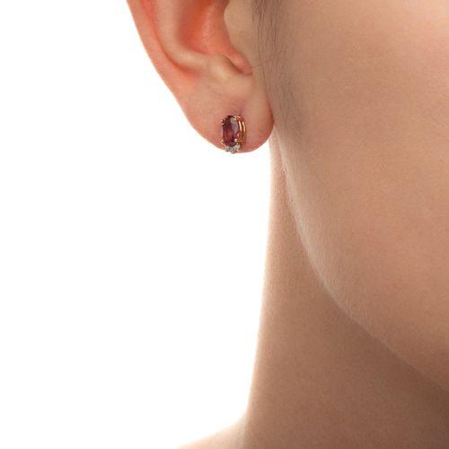 Brinco-de-Ouro-Rose-18k-Turmalina-Rosa-com-Diamantes-br21660-joiasgold