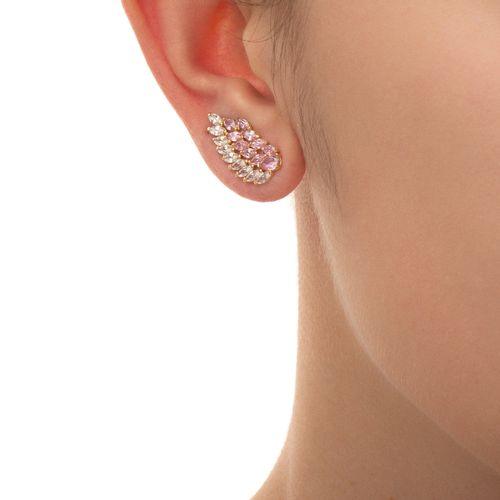 Brinco-de-Ouro-Branco-18k-Ear-Cuff-com-Zirconia-Rosa-e-Branca-br23122-joiasgold