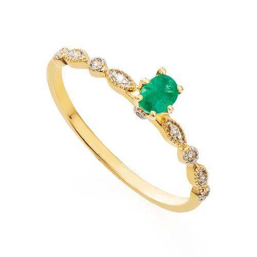 Anel-em-Ouro-18k-Solitario-com-Esmeralda-e-Diamantes-an35309-joiasgold