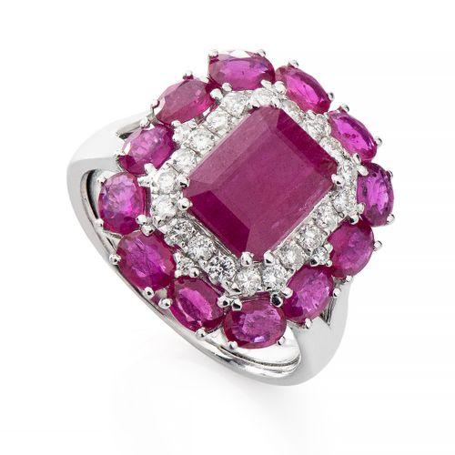 Anel-em-Ouro-Branco-18k-Rubi-com-Diamantes-an34133-JOIASGOLD