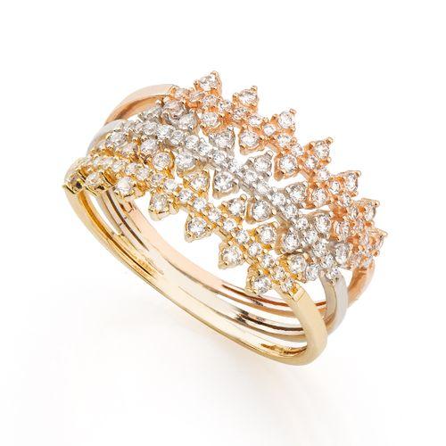 Anel-em-Ouro-18k-Fios-Trabalhados-Tricolor-com-Zirconia-an35992-joiasgold