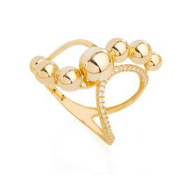 Anel-em-Ouro-18k-Vazado-Zirconia-Bolas-Lisas-an35999-joiasgold