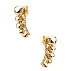 Brinco-em-Ouro-18k-Ear-Cuff-Bolas-Lisa-Filete-Zirconia-br23620-joiasgold