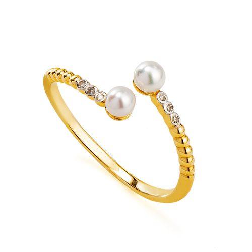 Anel-em-Ouro-18k-Duas-Perolas-com-Diamantes-Aro-Aberto-an35580-JOIASGOLD