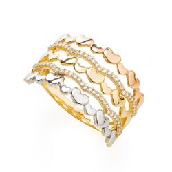 Anel-em-Ouro-18k-Fios-Trabalhados-Coracoes-Zirconia-an35988-joiasgold