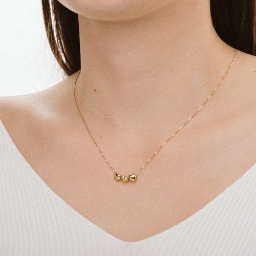 Gargantilha-em-Ouro-18k-Coracoes-Lisos-com-45cm-ga03129-joiasgold