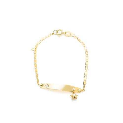 Pulseira-em-Ouro-18k-Placa-Infantil-com-Estrela-de-13cm-pu04795--joiasgold