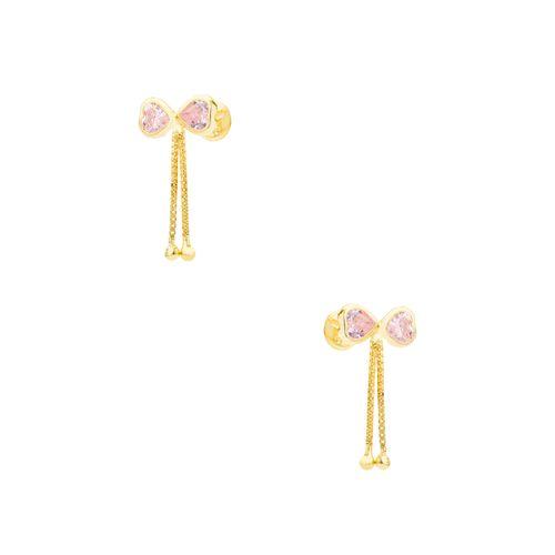 Brinco-em-Ouro-18k-Laco-Zirconia-Rosa-Fio-Veneziana-br23627-joiasgold