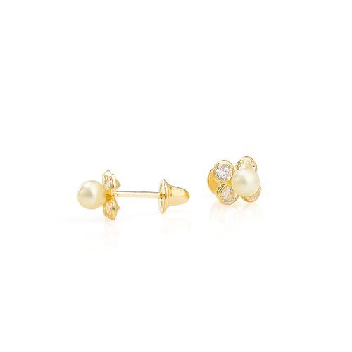 Brinco-em-Ouro-18k-Flor-Zirconias-com-Perola-30mm-br23614--joiasgold