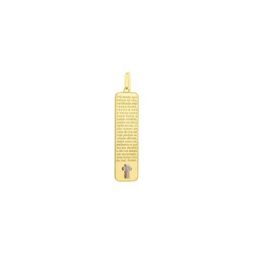 Pingente-em-Ouro-18k-Retangular-Pai-Nosso-com-Diamantes-pi1717-joiasgold