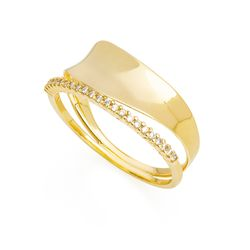 Anel-em-Ouro-18k-Ondulado-Concavo-Filete-Zirconia-an35990--joiasgold
