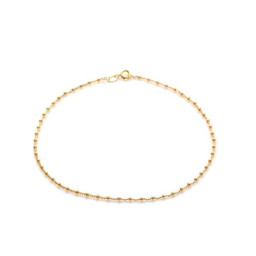 Tornozeleira-em-Ouro-18k-Bolas-Malha-Groumet-de-25cm-to0020-joiasgold