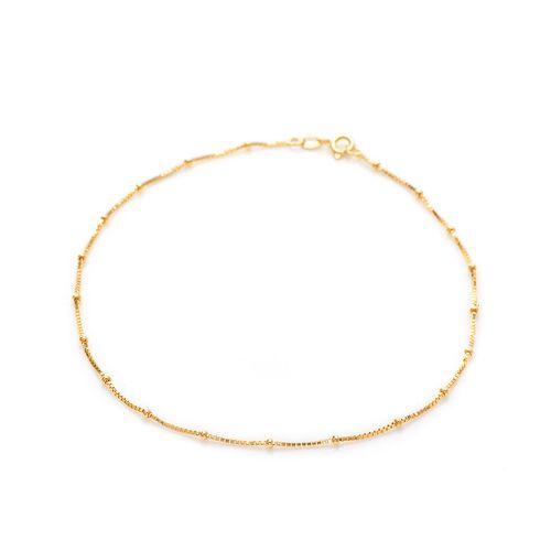 Tornozeleira-em-Ouro-18k-Bolas-Malha-Veneziana-de-25cm-to00203-joiasgold