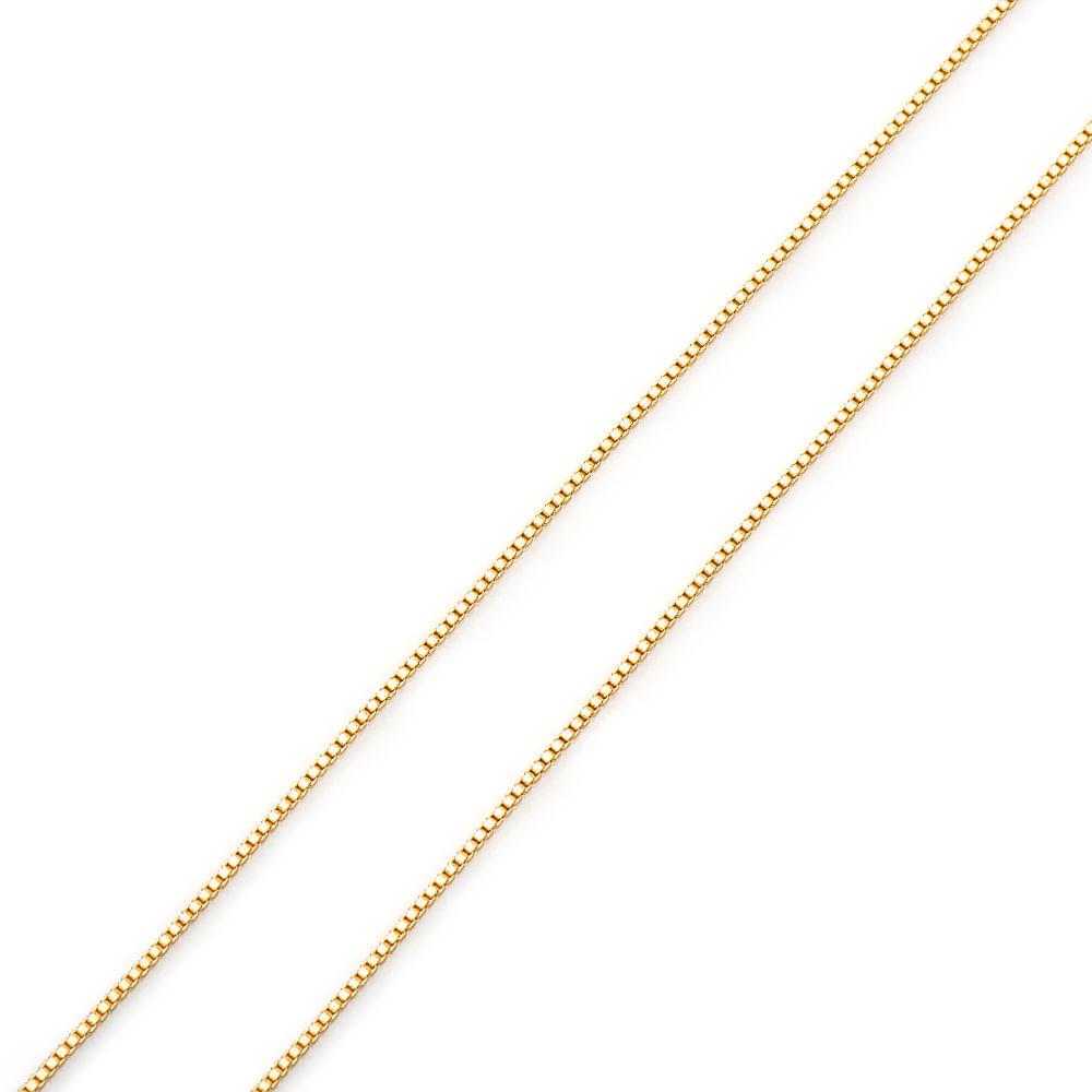 Corrente em Ouro 18k Veneziana 0,8mm 60cm co02574 - joiasgold 2f2aea7fa0