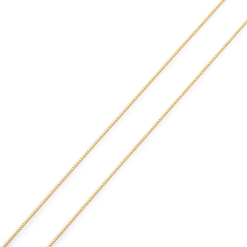 Corrente em Ouro 18k Veneziana de 0,7mm com 60cm co02577 - joiasgold 696c63bf26