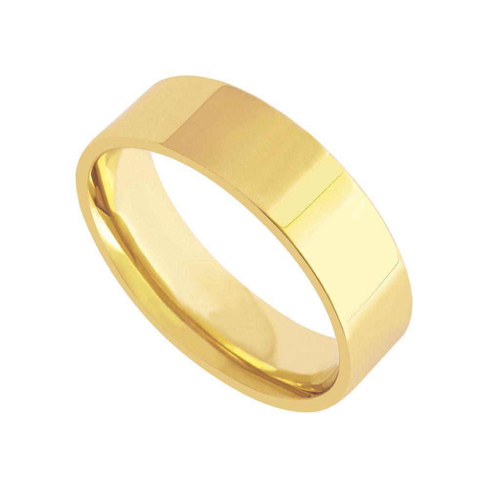 a42f8b1c5f2 Aliança em Ouro 18k Casamento Feminina Anatômica Reta 6