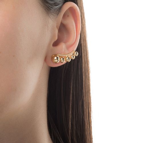 Brinco-em-Ouro-18k-Ear-Cuff-Bolas-Lisa-Filete-Zirconia-br23620--joiasgold
