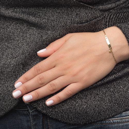 Pulseira-em-Ouro-18k-Placa-Infantil-com-Estrela-de-13cm-pu04795-joiasgold