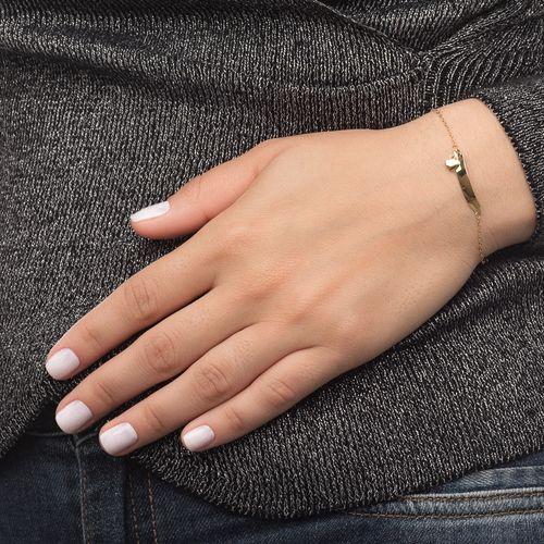 Pulseira-em-Ouro-18k-Infantil-Placa-Coracao-com-13cm-pu0477-joiasgold