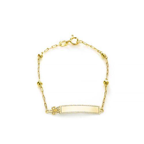 Pulseira-em-Ouro-18k-Flor-Placa-Infantil-13cm-pu05098--joiasgold