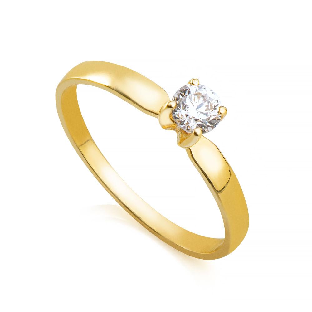 2955d305ba283 Anel em Ouro 18k Solitário Cartier Diamante com 30 Pontos an34033 ...