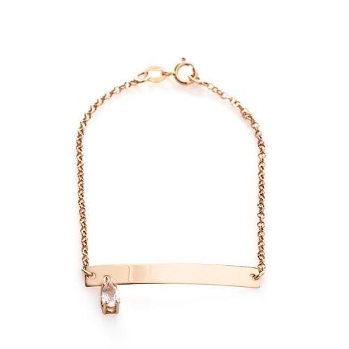 Pulseira-em-Ouro-Rose-18k-Infantil-Quartzo-Rosa-14cm-pu04303--joiasgold