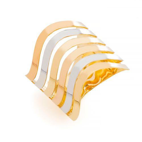 Anel-em-Ouro-18k-Tricolor-Fios-Ondulados-Vazados-an35509-joiasgold