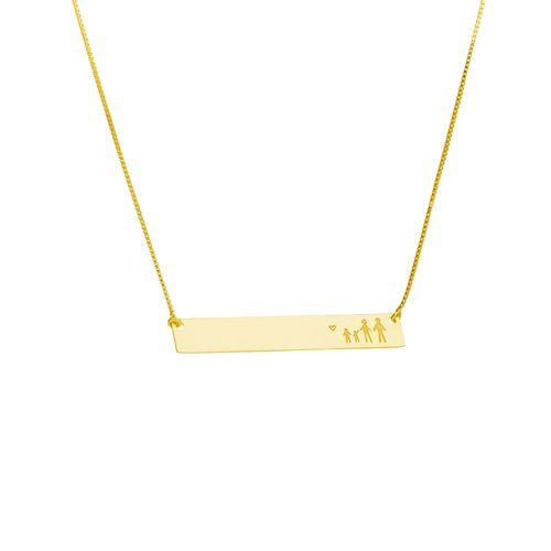 Gargantilha-em-Ouro-18k-Veneziana-Placa-Lisa-com-Familia-50cm-ga04692--joiasgold