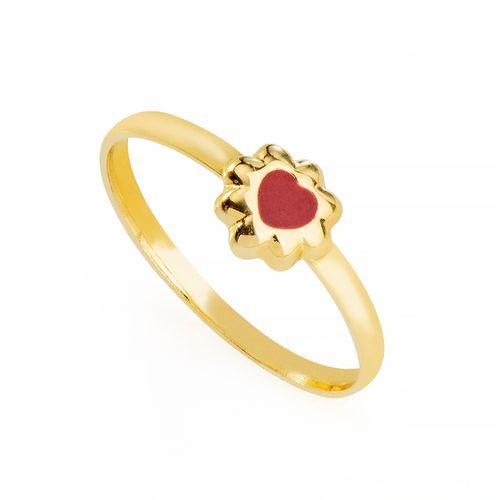 Anel-em-Ouro-18k-Infantil-Flor-com-Coracao-Resina-Vermelha-an35734--joiasgold