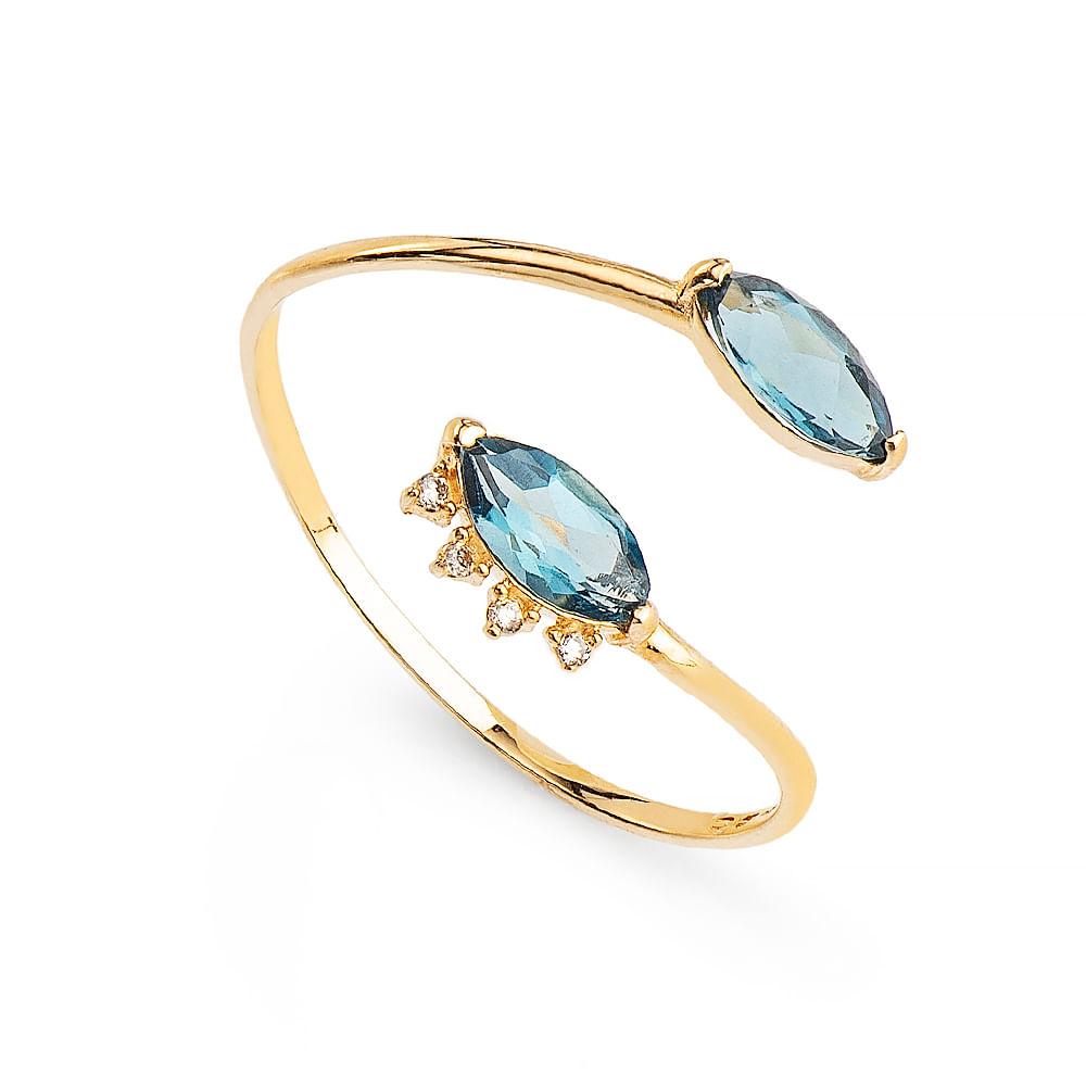 436a65c03bd9c Anel em Ouro 18k Topázio London com Diamantes an35236 - joiasgold