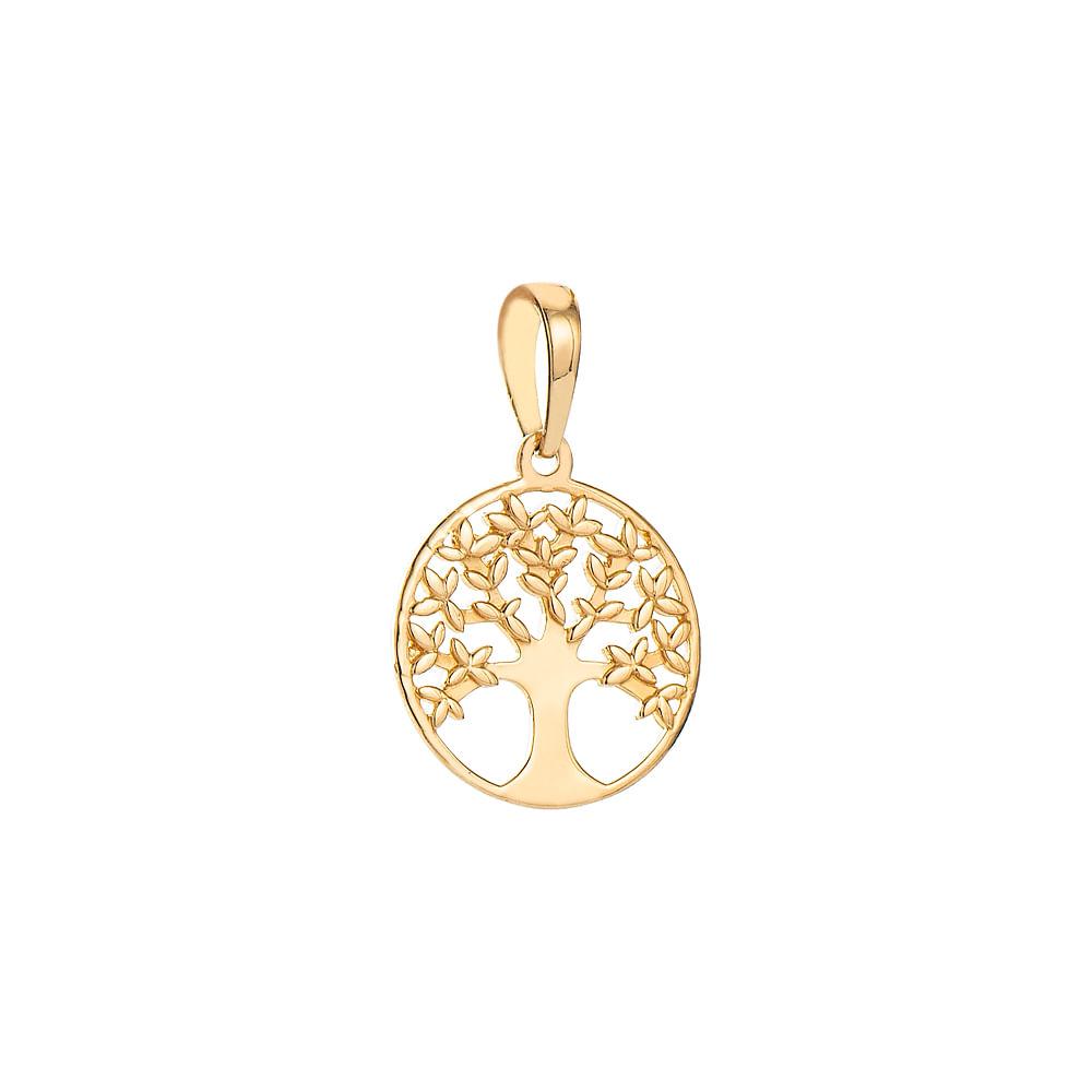 Pingente em Ouro 18k Mandala Árvore da Vida pi19549 - joiasgold 7090312358