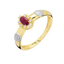 anel formatura Direito ouro 18k com zirconia vermelha