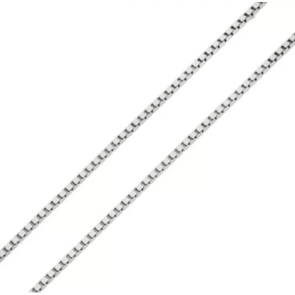 Corrente de Ouro Branco 18k Veneziana de 0,7mm com 45cm co02473 ... 122be2cc29